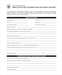 employee incident report templates 17 incident report templates free sle exle format