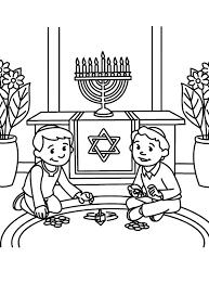 hanukkah coloring page 25 best hanukkah worksheets printables images on pinterest