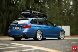 bmw 328i slammed bmw 328i sports wagon on vossen wheels