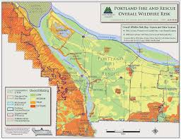 a map of oregon wildfires reducing the risk of wildfire the city of portland oregon