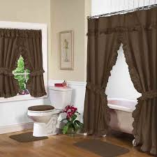 28 Inch Wide Bathtub Bathroom Double Swag Shower Curtains Swags With Liner Altmeyers
