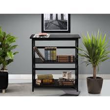 amazon com black montego horizontal bookcase this mid century