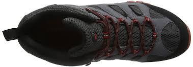 merrell men u0027s moab mid gore tex high rise hiking boots multicolor