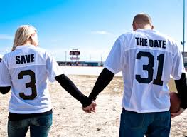 save the date wedding ideas football save the date ideas 001 weddings by lilly