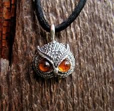 owl pendant necklace silver images Sterling silver owl pendant with amber eyes western mountain jpg