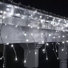 led icicle lights cool white 70 cool white 5mm led icicle light set with white wire bulbamerica
