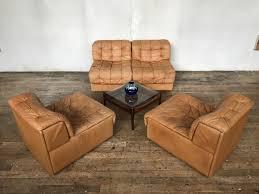 canapé modulaire canapé modulaire ds 11 vintage en cuir de de sede suisse en vente