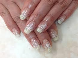 white line nail nail art gallery