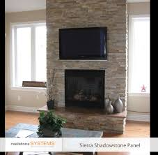 dry stack wall brick stone fireplace tile stacked stone fireplace