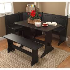 Dining Room Table With Bench Seat Amazon Com Target Marketing Systems Traditional Style 3 Piece