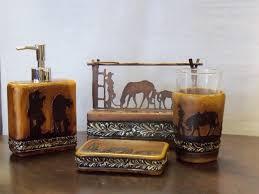 Rustic Bathroom Accessories Sets - cowboy horse bath decor wild cowboy and horse bath decor