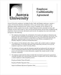 100 employment confidentiality agreement template 32 word
