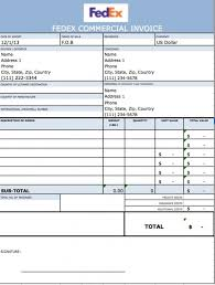 free fedex commercial invoice template excel pdf word doc
