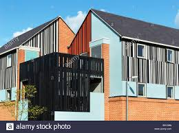 contemporary housing on the newhall development harlow essex uk