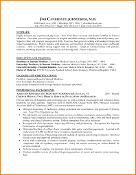 Sample Medical Student Resume Example Of Cv Residency