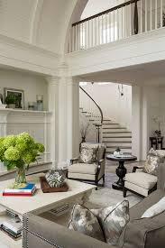 traditional living room with barrel ceiling home bunch
