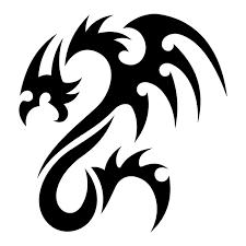 black and white dragon tattoos free download clip art free