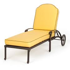 Cast Aluminum Lounge Chairs Florence All Weather Cast Aluminum Outdoor Chaise Lounge