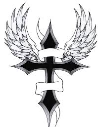 cross with wings by purpleaf on deviantart