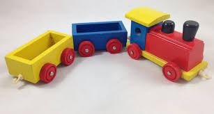 vintage wooden toy train for toddlers and preschoolers colorful