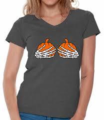 halloween t shirts halloween v neck shirts t shirts for women women u0027s skeleton hands