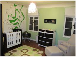 nursery with black and white nursery furniture png