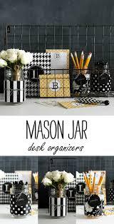 Black And White Desk Accessories Jar Desk Accessories Jar Crafts