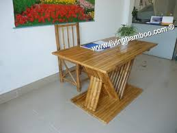 Bamboo Dining Table Set Dining Room