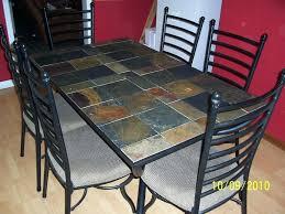 tile table top design ideas astonishing tile top dining table slate set design ideas metal patio