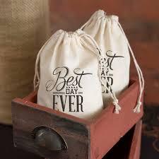 wedding favor bags best day cotton wedding favor bags