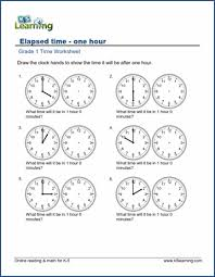 1st grade telling time worksheets free u0026 printable k5 learning