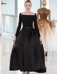 2016 fashion design ball gown boat neckline long sleeve ankle
