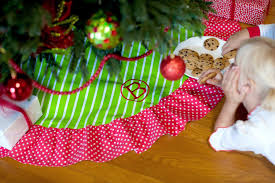 Poinsettia Christmas Tree Skirt Merry And Bright Christmas Tree Skirt 1 2 Week Production Time