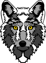wolf head stylized 1 black white art coloring sheet colouring