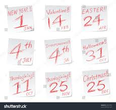 icons date calendar new year stock vector 62614555