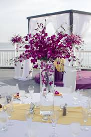 Orchid Centerpieces Tall Purple Orchid Centerpieces