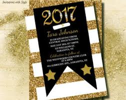 grad invitations glitter graduation invitations black and gold graduation