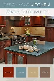 how to design your kitchen from a color palette