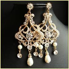 and pearl chandelier gold chandelier earrings wedding home design ideas