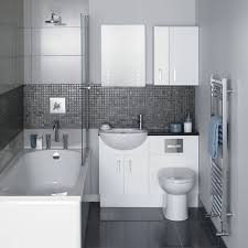 bathroom grey painted sink cabinet oval wall mirror decorative