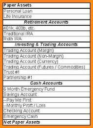 Checking Account Balance Sheet Template 4 Personal Balance Sheet Template Model Resumed
