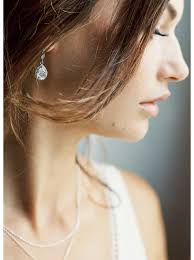 boucle d oreille mariage boucles d oreilles mariée avec pendant au charme rétro