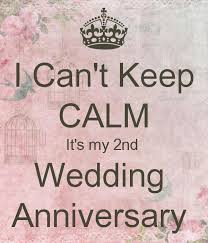2nd wedding anniversary i can t keep calm it s my 2nd wedding anniversary poster jones