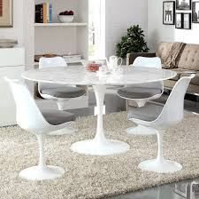 60 inch dining room table lippa 60 inch round artificial marble dining table white by modway