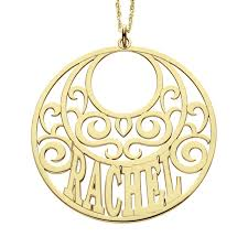 Personalized Name Pendant Round Scroll Name Pendant 45mm Personalized Jewelry