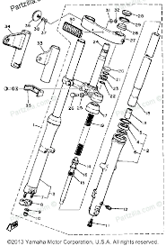diagram of yamaha motorcycle parts 1981 xs400 xs400h front fork