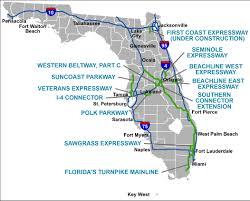 Florida Map Of Beaches by Florida U0027s Turnpike The Less Stressway
