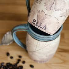 custom mug personalized coffee mug handmade mug rustic