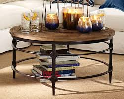 excellent round coffee table design in the rustic living room with