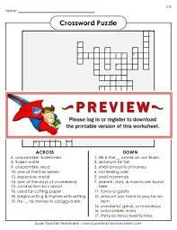 answer key super teacher worksheets